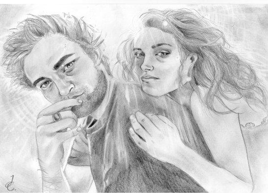 Robert Pattinson, Kristen Stewart par BengtIda